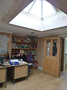 Office Skylight - partly finished